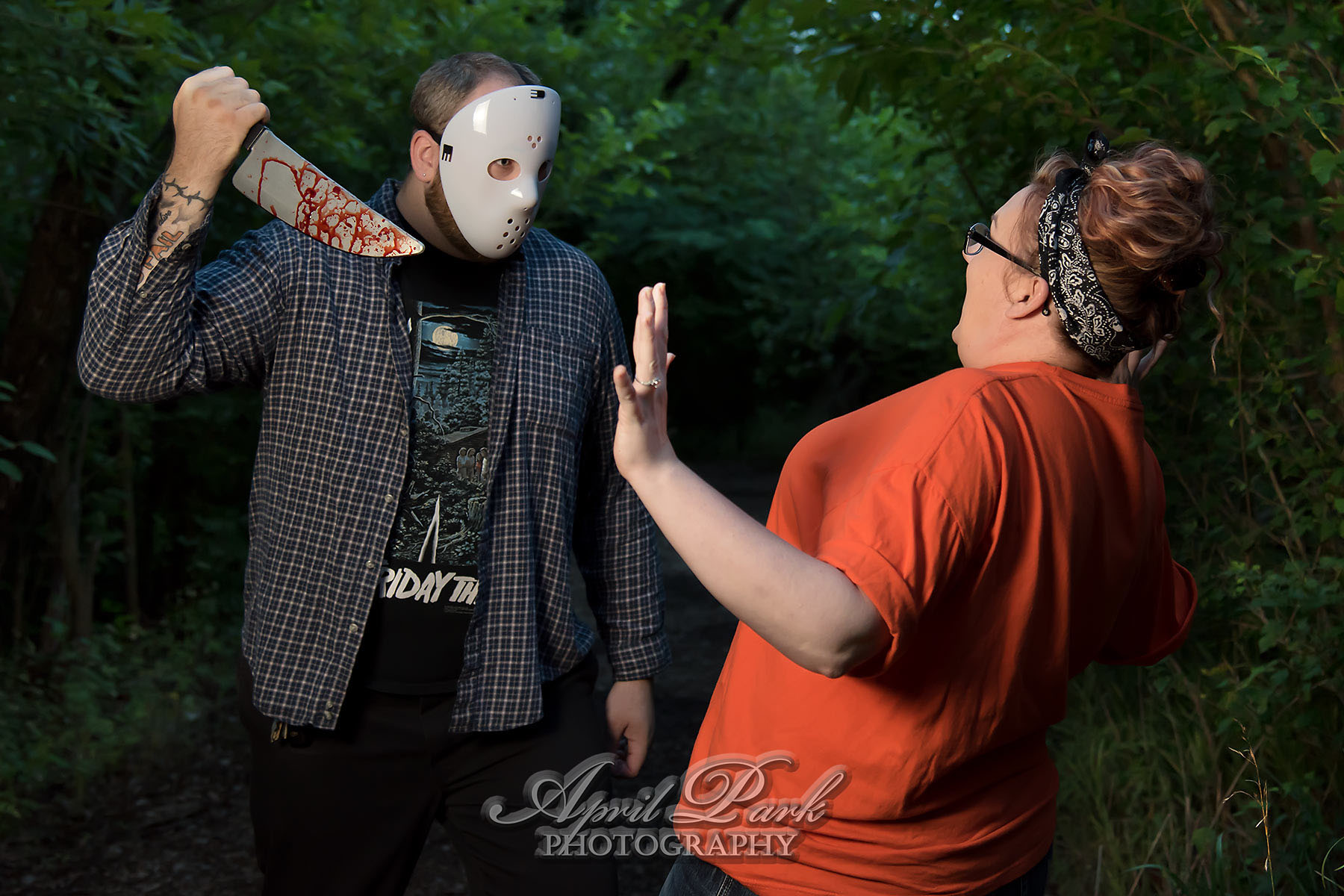 Horror Themed Engagement Photos April Park Photography Northwest Arkansas Photographer Rogers
